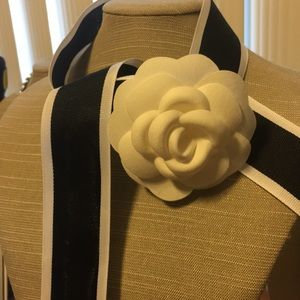 Chanel Camillia Flower with Chanel Ribbon